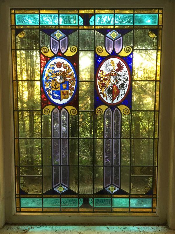 Glas-in-Lood gerestaureerd en ingebouwd in isolatieglas te Bilthoven.